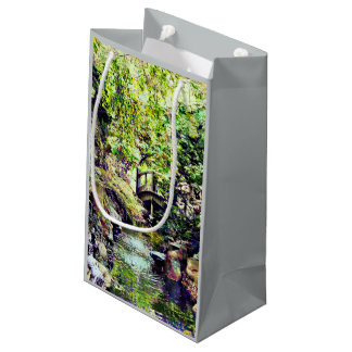 Japanese Garden With Bridge and Stream Small Gift Bag