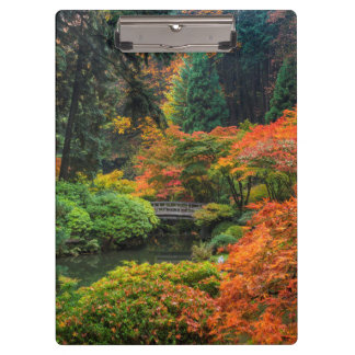Japanese Gardens In Autumn In Portland, Oregon 5 Clipboard