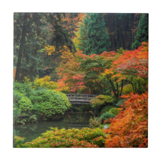 Japanese Gardens In Autumn In Portland, Oregon 5 Tile