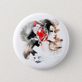 Japanese Geisha 2 Inch Round Button