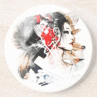 Japanese Geisha Coaster