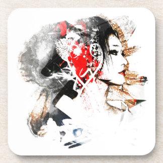 Japanese Geisha Coasters