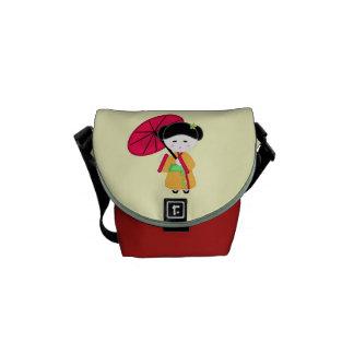 Japanese Geisha Girl Commuter Bags