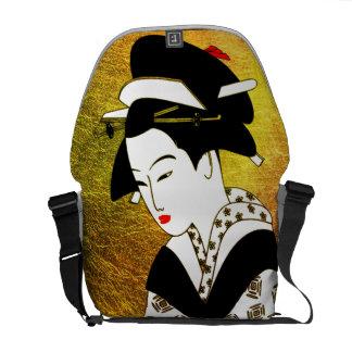 japanese geisha gold rickshaw bag commuter bag