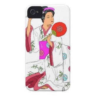 Japanese geisha iPhone 4 Case-Mate cases