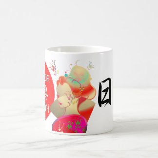 Japanese GEISHA KIMONO GIRL コーヒーマグカップ