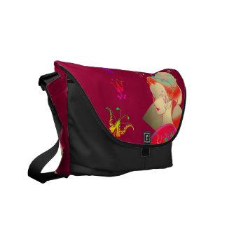 Japanese GEISHA KIMONO GIRL Courier Bags