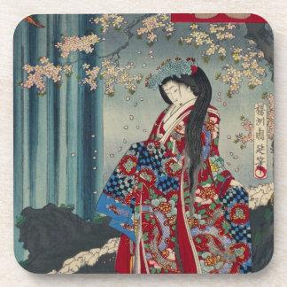Japanese Geisha Lady Japan Art Cool Classic Coaster