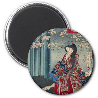 Japanese Geisha Lady Japan Art Cool Classic Magnet