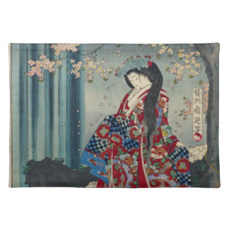 Japanese Geisha Lady Japan Art Cool Classic Placemat