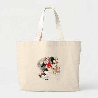 Japanese Geisha Large Tote Bag