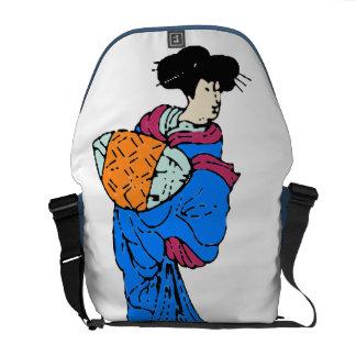 Japanese Geisha Messenger Bag