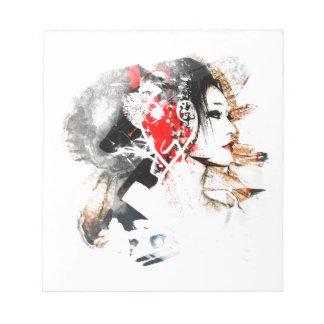 Japanese Geisha Notepad