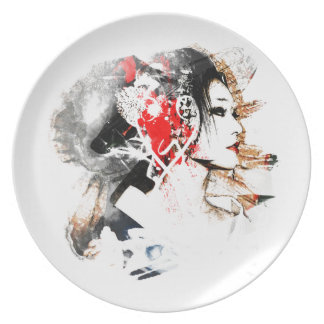 Japanese Geisha Party Plate