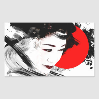 Japanese Geisha Sticker