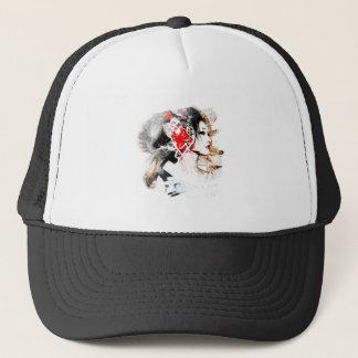 Japanese Geisha Trucker Hat