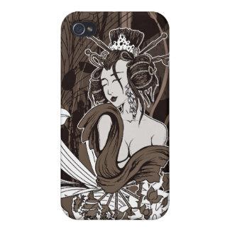 Japanese Geisha vector art : 4 Case For iPhone 4