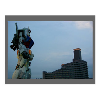 Japanese Giant Robot Statue Postcard