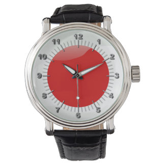 Japanese glossy flag wrist watch
