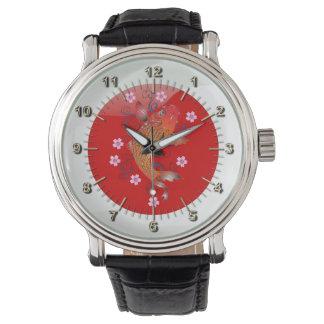 Japanese glossy flag wristwatch