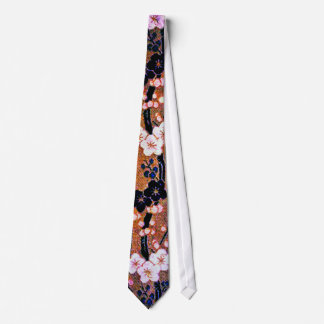 Japanese Golden Cherry Blossom Tie