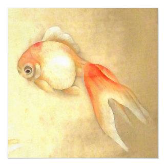 Japanese Goldfish Magnetic Invitations