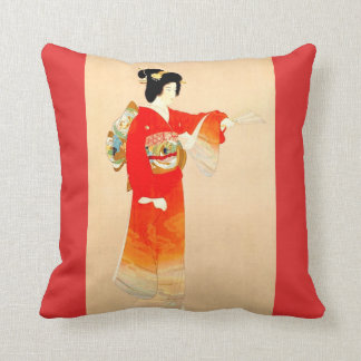 Japanese Government Railways Travel Poster Throw Pillow