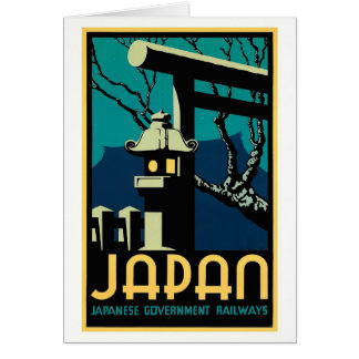 Japanese Government Railways Vintage World Travel Card