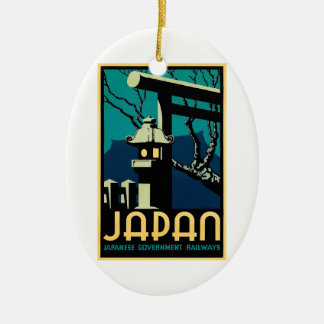 Japanese Government Railways Vintage World Travel Ceramic Ornament