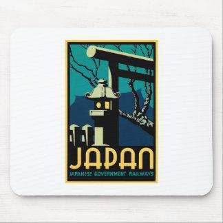 Japanese Government Railways Vintage World Travel Mouse Pad