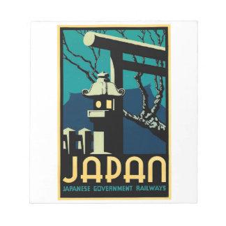 Japanese Government Railways Vintage World Travel Notepad