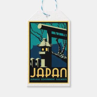 Japanese Government Railways Vintage World Travel Pack Of Gift Tags