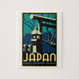Japanese Government Railways Vintage World Travel Puzzle