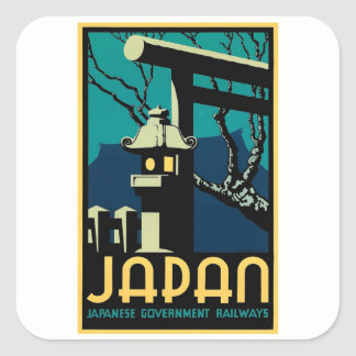 Japanese Government Railways Vintage World Travel Square Sticker