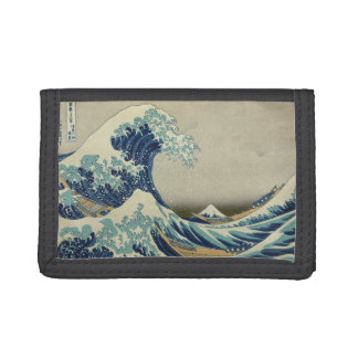 Japanese Great Wave off Kanagawa by Hokusai Tri-fold Wallet