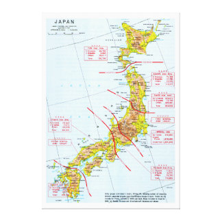 Japanese Ground Forces World War II Map in Japan Canvas Print