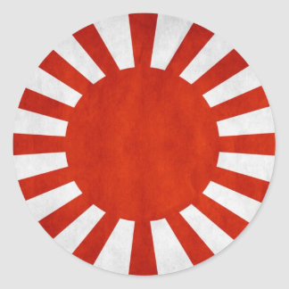 Japanese Grunge Flag Classic Round Sticker