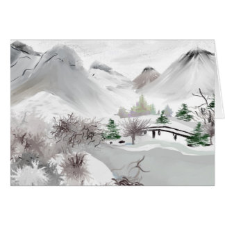 Japanese Haiku Art Greeting Card