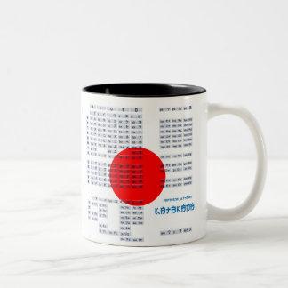 Japanese Hiragana and Katakana Alphabet Mug