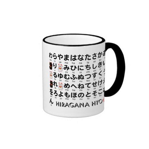 Japanese Hiragana Katakana Table Alphabet Ringer Coffee