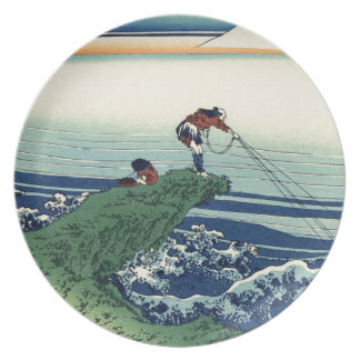 Japanese Hokusai Fuji View Landscape Plate