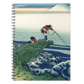 Japanese Hokusai Fuji View Landscape Spiral Notebook