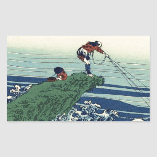Japanese Hokusai Fuji View Landscape Sticker