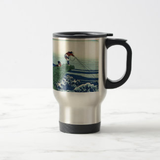 Japanese Hokusai Fuji View Landscape Travel Mug