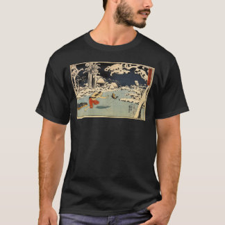 Japanese Ice Fishing Painting c. 1800's T-Shirt