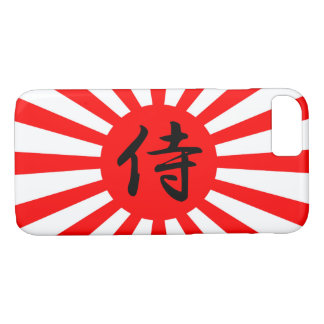 Japanese Imperial Flag with Samurai Kanji Symbol iPhone 8/7 Case
