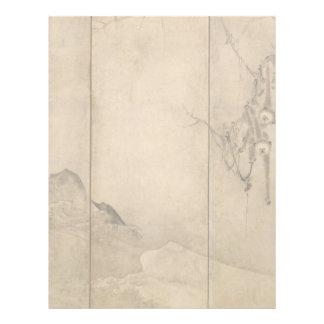 Japanese Ink on paper Gibbons Primates & Landscape