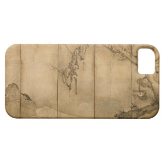 Japanese Ink on paper Gibbons Primates & Landscape iPhone 5 Cover