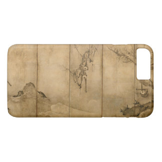 Japanese Ink on paper Gibbons Primates & Landscape iPhone 8 Plus/7 Plus Case