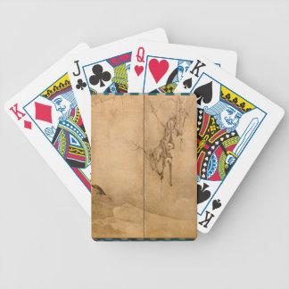 Japanese Ink on paper Gibbons Primates & Landscape Poker Deck